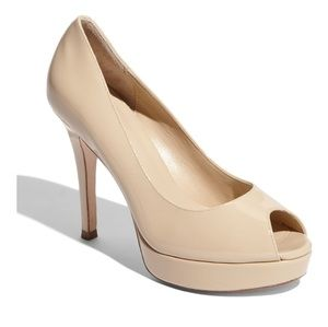 COLE HAAN Mariella Air Cream Patton Leather Pumps